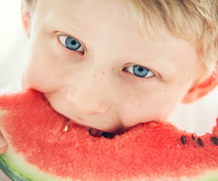 Blue eyes boy with watermelon (CreativePhotoTeam.com) Tags: boy red summer portrait people food cute green eye nature smile face childhood closeup fruit fun happy kid juicy healthy holding funny energy day child natural little teeth small young like lifestyle happiness tasty vegetable fresh watermelon eat health slice bite summertime hungry cheerful melon pleasure nutrition caucasian vitamin appetizing