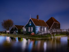 Cheese farm (karinavera) Tags: longexposure travel houses netherlands night farm zaanseschans zaandam nikond5300