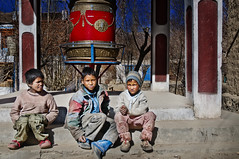 Ladakh - Where do the Children Play ? (Anoop Negi) Tags: nepal portrait india wheel children photography for photo media image photos delhi indian prayer bangalore working creative gritty images best po nepalese tso mumbai anoop ladakh scruffy nepali negi karu pangong photosof ezee123 imagesof chamday jjournalism tibetaspertheyahoomap