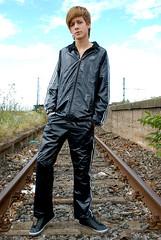 Nylon Trackies Adidas Suit Shiny (Shiny Shorts Lover) Tags: boy boys shiny track lads pants bottoms lad shorts adidas jogging nylon trackies scally glanz polyamid tracksuite glanznylon glanzshorts