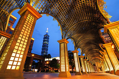 Taipei 101, Golden Street () Tags: sunset night taiwan 101  taipei
