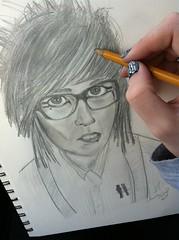 Cap'n DesDes (EmmaDearest) Tags: nerd pencil drawing captain destry youtube desandnate