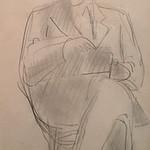 """<b>Moi Meme</b><br/> Frans Wildenhain """"Moi Meme"""" Pencil, n.d. LFAC #500<a href=""""http://farm8.static.flickr.com/7153/6466264793_5403c65060_o.jpg"""" title=""""High res"""">∝</a>"""
