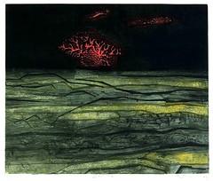 Peterdi, Gabor (1915-2001) - 1961 Desert I (Smithsonian American Art Museum, Washington DC) (RasMarley) Tags: abstract landscape smithsonian etching graphic contemporary engraving painter 1960s 20thcentury 1961 hungarian abstractexpressionism deserti gaborpeterdi peterdi