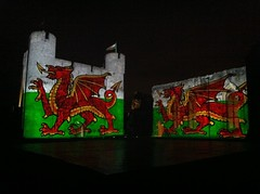 Illuminata 2011 - rehearsal (Ross Ashton) Tags: video projection sonetlumiere videoprojection projectingontobuildings architectural projectionartist projectiondesigner caerphillycastleeventwalescadwrossashtonkarenmonidpaulchatfieldwaleswelshhistoryknightknights2011southwales