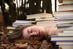 Selfportrait (silvia_mozzon) Tags: autumn portrait selfportrait nature girl face canon sleep natura books libri silvia autoritratto tamron autunno ritratto ragazza 50d