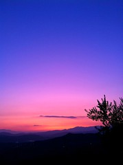 blue hour (SS) Tags: above city pink blue light sunset red summer sky italy house mountain black beautiful weather vertical clouds composition landscape photography evening countryside colorful mood glow dof view purple pov branches hill perspective scenic olive august burning panoramica depth tone lazio iphone ciociaria atmophere arpino lelitedespaysages