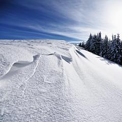snowdrift (gregor H) Tags: winter white mountain snow sunshine landscape wind snowdrift ridge tale windpower
