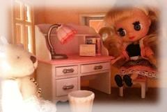 Mini Blythe's desk