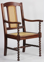 28. Barley Twist Cane Seat Captains Chair