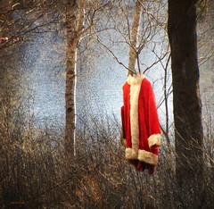 ....Santa went swimming... (xandram) Tags: lake texture photoshop santas absolutegoldenmasterpiece absoluterouge