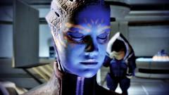 Mass Effect 2 - Blue Rose (dkenobi) Tags: blue rose romance cupid asari illium krogan masseffect2