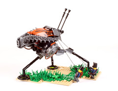 """Pull harder you dogs!!!"" (Adrian Florea) Tags: lego walker steampunk sextant dieselpunk builderslounge piratepunk ironbuilder foirsop"