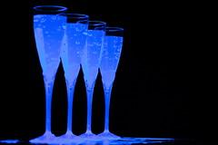 Toxic Water (grafficartistg4) Tags: light food black water studio photography glow uv blacklight reflective glowing product reflexions tonic tonicwater