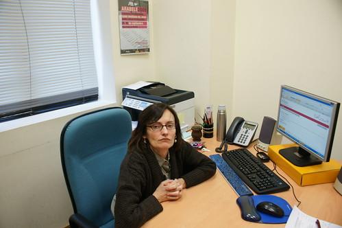 María Victoria Aguilar en su despacho