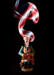 Candy Man (Psycho_Babble) Tags: holiday abstract smoke explore candycane incense smokeart smokephotography smokephoto smokemanipulation blinkagain creativesmoke peppermintsmoke