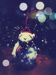 Come on Home (moaan) Tags: santa christmas snow digital snowman bokeh utata fakesnow christmastime iphone 2011 fakebokeh iphone4