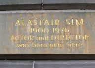 Photo of Alastair Sim stone plaque