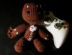 Sack Boy 2 (Bobbeyjazz) Tags: doll handmade crochet videogame amigurumi littlebigplanet sackboy geekcraft