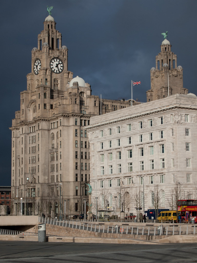 Royal Liver Building and Cunard Building - Liverpool