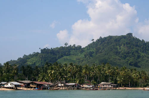 The main village on Ko Muk