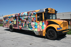 Graffiti School Bus in Staten Island, New York, USA. 2011 (Tom Turner - SeaTeamImages / AirTeamImages) Tags: city nyc trip usa newyork bus art colors yellow graffiti artwork colorful unitedstates artistic painted wheels transport hippy automotive spot transportation vehicle parked schoolbus statenisland trippy psychedelic bigapple spotting artistry yellowschoolbus tomturner