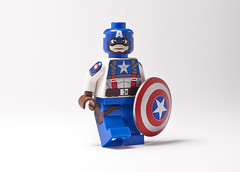 Custom Lego Captain America - The First Avenger (_Tiler) Tags: print design lego cab minifig custom marvel captainamerica marvelcomics christo minifigure padprinting thefirstavenger captainamericathefirstavenger