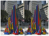 Stereo Splotch, New York, NY (Grufnik) Tags: park new york city nyc blue red ny color building sol geotagged hall stereophoto stereophotography downtown stereo le stereograph witt rainbo lewitt splotch 2011 geo:lat=4071188105476156 geo:lon=7400772784161376