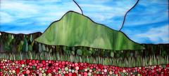 Mt Elmore (Kasia Polkowska) Tags: pink mountain art glass landscape spring vermont mosaic stained flowerfields mosaicartsource