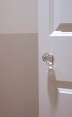 glass knob (almostbunnies) Tags: door white glass closet paint crystal hallway doorknob olympic anthropologie lowes homedepot stonington neutral glassofmilk graybeige marthastewartpaint imgp7818