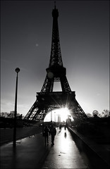 good morning paris (jonnytakespictures) Tags: morning light blackandwhite sun paris france love nikon shine