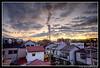 And it all starts again... (Sunrise in Kobe) (Ilko Allexandroff / イルコ・光の魔術師) Tags: chimney clouds photoshop sunrise kobe 空 hdr nada 神戸 ilko photomatix 朝焼け 煙突 綺麗 allexandroff 西灘