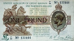 1950-1960's Nostalgia 1929 £1 Note (colinfpickett) Tags: old money 1930s airport coins memories streetscene cash nostalgia 1940s 1950s nostalgic british 1960s currency coaches airliner delivering banknotes