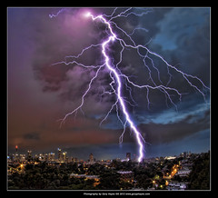 Beautiful but Deadly. Sydney Summer Lightning Storm. Less than 1km away! Glebe 2037 (Gary Hayes) Tags: storm canon sydney fisheye crop lightning glebe wow1 wow2 wow3 wow4 2037 wow5 stormydays 5dii flickrstruereflection1 al