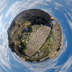 Palamidi castle little planet, Nafplion, Greece (amfipolos) Tags: castle photoshop 360 greece nafplion sonycybershot polarcoordinates palamidi κάστρο littleplanet polarpanorama stereographicprojection ναύπλιο παλαμήδι