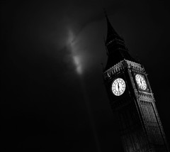 The Dark Night @ Big Ben (MLB | PHOTOGRAPHY) Tags: blackandwhite bw white black london westminster abbey night dark blackwhite big raw ben londres batman thedarknight