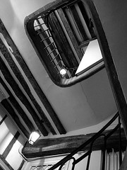 Stairs bw (claudio malatesta) Tags: bw paris france architecture stair scala marais escalier musicorso colombage iphone halftimber claudiomalatesta claudebenasouli