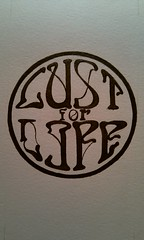 Lust for life project (WouterZArtZ - Dutch Designs!) Tags: life moleskine ink paper typography for hand drawing lust drawn circular lustforlife