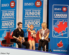 Shalena Rau & Phelan Simpson (Melanie Heaney) Tags: sports action pairs coaching figureskating kissandcry kristywirtz shalenarau phelansimpson 2011canadians
