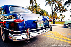 South Beach Art Deco Classic Car Show - 1951 Ford 2 (davidarnoldphoto) Tags: street sky classic ford car vintage classiccar day florida miami antique palmtrees bumper southbeach taillights 2012 1951 1951ford