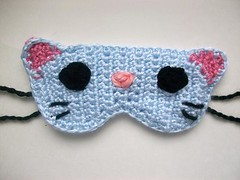 Caty the cat sleep mask (Mooy) Tags: cute animal cat handmade crochet adorable kitty kawaii etsy sleepmask sleepingmask mooeyandfriends