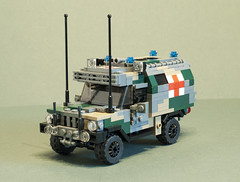 Volvo C405 Wolfhound Ambulance (Aleksander Stein) Tags: light infantry volvo lego military utility ambulance vehicle purpose multi iveco mobility wolfhound armoured tactical ndc c405 ampv