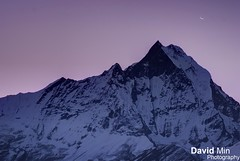 Annapurna, Nepal - Mount Machapuchare (GlobeTrotter 2000) Tags: travel nepal winter camp vacation sky moon moun