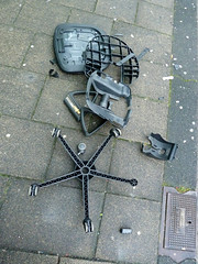 shattered (maartje jaquet) Tags: amsterdam garbage chair song pavement shattered stoel rollingstones vuilnis afval foundsculpture sculpturetrouve