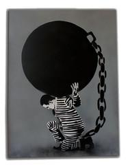 prison (-icy-) Tags: urban streetart art graffiti stencil iran canvas iranian icyandsot