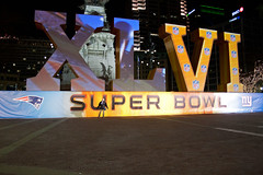 Super Bowl 46 logo (indykaleu) Tags: blue winter red color green colors yellow night canon dark logo fun eos football colorful time indianapolis nfl january indy indiana nighttime 1855mm superbowl excitement logos 2012 30d numerals ind monumentcircle canoneos30d superbowlxlvi superbowl46 sb46 indykaleu