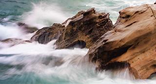 Rocks & water.