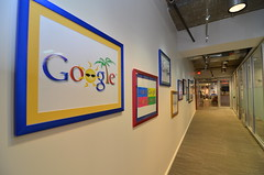 At the Google HQ in Reston (WilliamMarlow) Tags: pictures logo virginia google corridor wideangle reston restontowncenter restonvirginia tokina28 d7000 tokina1116 restoninterfaith