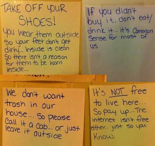 We don't want trash in our house