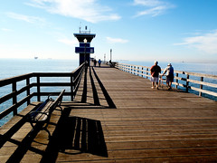 Seal Beach Pier (TheJudge310) Tags: california wood people water pier december sealbeach 2011 olympustg810